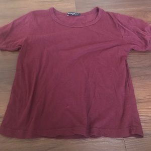 Brandy melville cropped t shirt short sleeve